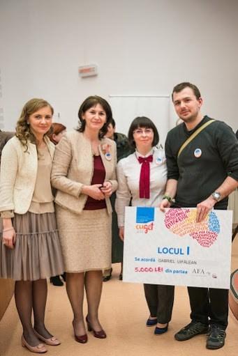 """Gabriel Uifălean, masterand al Facultății de Științe Economice și Gestiunea Afacerilor (FSEGA) din cadrul Universității """"Babeș-Bolyai"""" câștigător la categoria tinerilor de 18-25 de ani"""