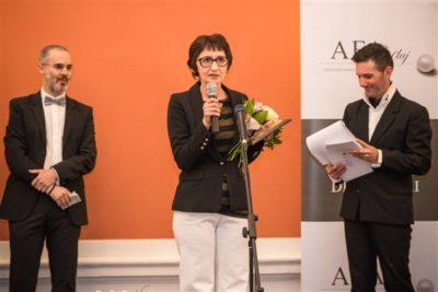 Scriitoarea Marta Petreu și Mihnea Măruță, jurnalist