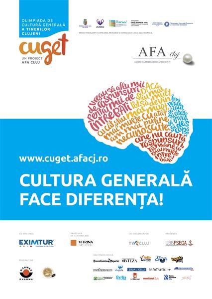 AFA Cluj lansează a doua ediție a  Olimpiadei de Cultură Generală a Tinerilor Clujeni – CuGeT
